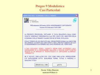 Pregeo 9 Modulistica  Casi Particolari