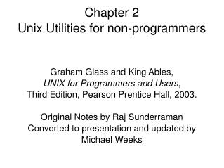 Chapter 2  Unix Utilities for non-programmers
