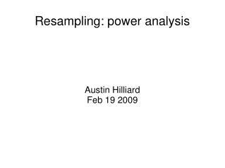 Resampling: power analysis