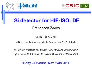Si detector for HIE-ISOLDE