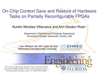 On-Chip Context Save and Restore of Hardware Tasks on Partially Reconfigurable FPGAs
