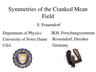 Symmetries of the Cranked Mean Field