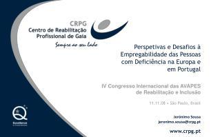 Perspetivas e Desafios à Empregabilidade das Pessoas com Deficiência na Europa e em Portugal