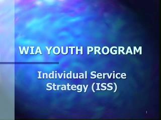 WIA YOUTH PROGRAM