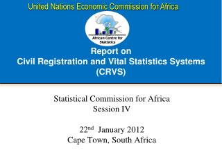 Report on  Civil Registration and Vital Statistics Systems (CRVS)