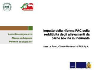 Impatto della riforma PAC sulla redditività degli allevamenti da carne bovina in Piemonte
