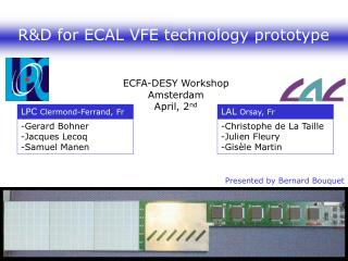 R&D for ECAL VFE technology prototype