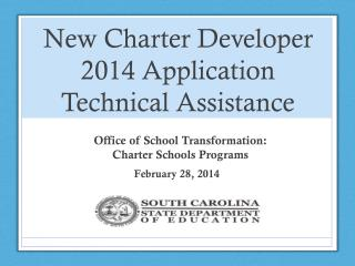 New Charter Developer 2014 Application Technical Assistance