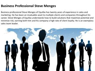 Business Professional Steve Menges