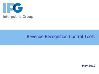 Revenue Recognition Control Tools