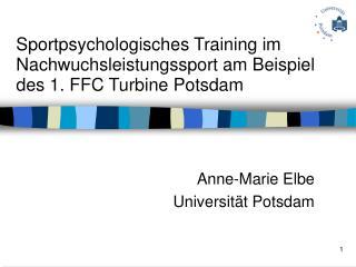 Sportpsychologisches Training im Nachwuchsleistungssport am Beispiel des 1. FFC Turbine Potsdam