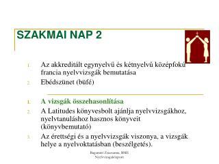 SZAKMAI NAP 2