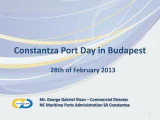 Constantza Port Day in Budapest