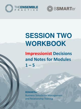 SESSION TWO WORKBOOK