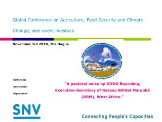Global Conference on Agriculture, Food Security and Climate Change, side event livestock