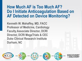 Screening for AF: Key Issues