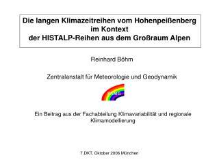 Reinhard Böhm Zentralanstalt für Meteorologie und Geodynamik