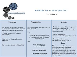 Bordeaux  les 21 et 22 juin 2012