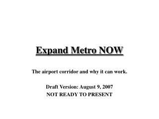 Expand Metro NOW