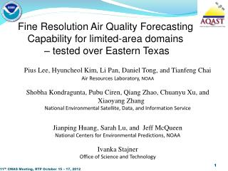 Fine Resolution Air Quality Forecasting Capability for limited-area domains