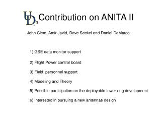 Contribution on ANITA II