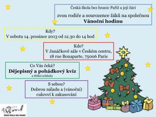 Česká škola bez hranic Paříž a její žáci