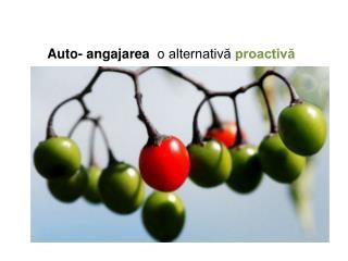 Auto- angajarea o  alternativă  proactivă