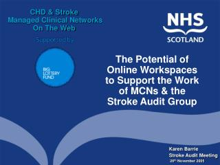 Karen Barrie Stroke Audit Meeting  28 th  November 2005