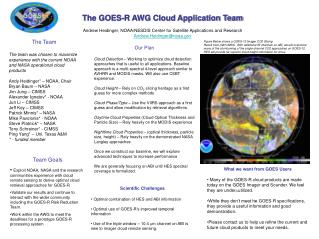 The GOES-R AWG Cloud Application Team