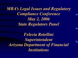 Arizona Department of Financial Institutions Licensing