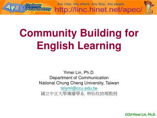 Community Building for English Learning