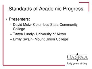 Standards of Academic Progress