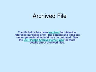 Archived File