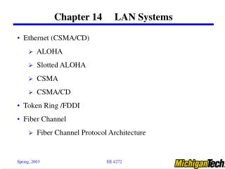 Chapter 14     LAN Systems