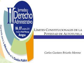 Límites Constitucionales de la  Potestad de Autotutela Administrativa