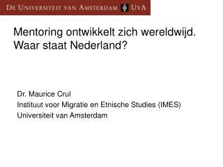 Mentoring ontwikkelt zich wereldwijd. Waar staat Nederland?