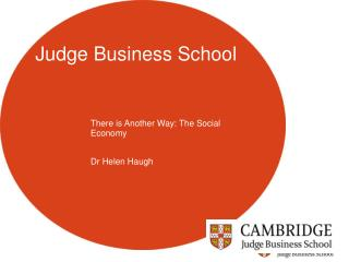 There is Another Way: The Social Economy  Dr Helen Haugh