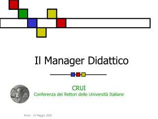 Il Manager Didattico