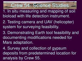Crew 54- Science Studies