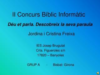 II Concurs Bíblic Informàtic