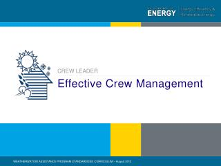 Effective Crew Management