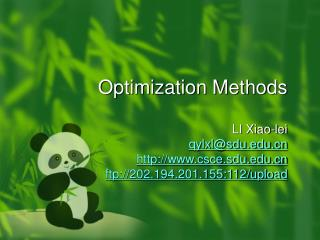 Optimization Methods