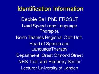 Identification Information