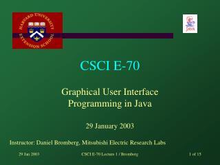 CSCI E-70