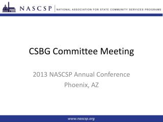 CSBG Committee Meeting