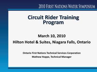 Circuit Rider Training Program