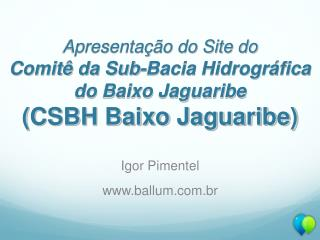 Igor Pimentel ballum.br