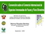 Ministerio de Agricultura  Instituto Nacional de Recursos Naturales Intendencia Forestal y de Fauna Silvestre   Marina R