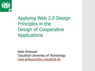 Applying Web 2.0 Design Principles in the Design of Cooperative Applications