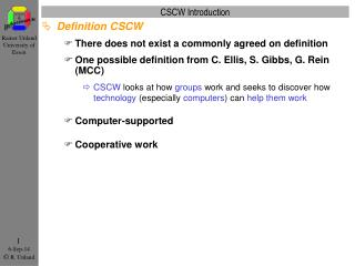 CSCW Introduction
